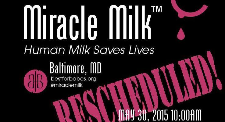 Baltimore Miracle Milk™ Stroll rescheduled to May 30